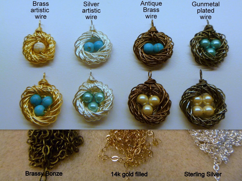 Bird nest necklace mommy jewelry mothers necklace one zoom aloadofball Choice Image