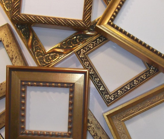 50 Small Gold Frames for Wedding Party Favors Bridesmaids