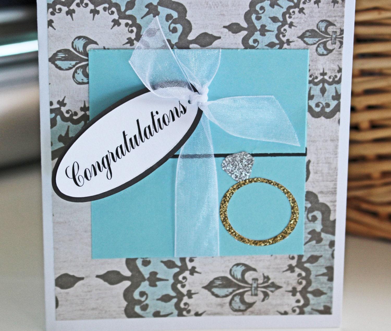 Engagement card tiffany blue handmade card engagement ring description engagement card kristyandbryce Choice Image