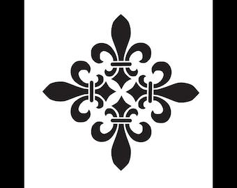 Fleur De Lis Diamond - Versailles - Art Stencil - Select Size- STCL1220 by StudioR12