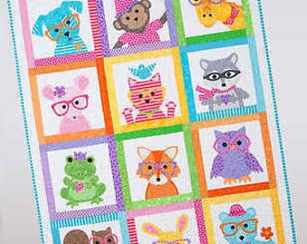 Sew Cute Critters Book by Cindy Taylor Oates for Taylor Made Designs - 5 Projects: Quilt, Clothing Appliqué, Tote, Backpack + Canvas Picture