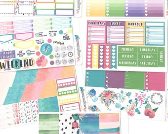 Rainbow Paint - Weekly Planner Kit - Planner stickers for Erin Condren Planners, Happy Planners and much more!