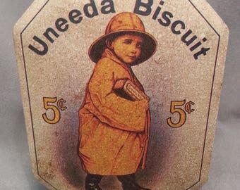 Vintage Tin - National Biscuit Company Nabisco Uneeda Biscuit Bristol Ware Tin