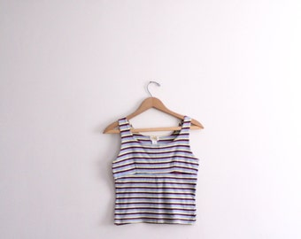 Girly Striped 90s Tank Top