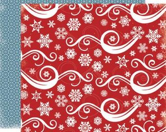 Carta Bella Scrapbook Paper - Snowflake Swirl