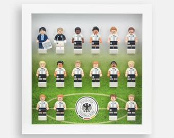 Lego Minifigures Display Case Frame for DFB German Soccer Minifigs