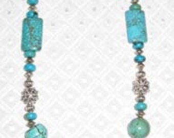 Turquoise Necklace with Turquoise in silver pendant