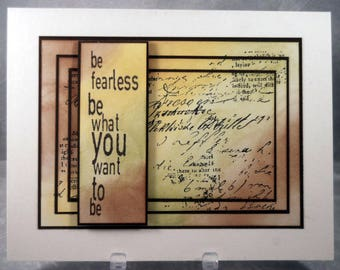Fearless Blank Greeting Card