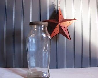 Vintage Glass Ann Page Raspberry Preserve Jar Kitchen Storage Farmhouse Decor