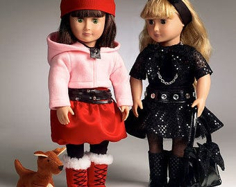 McCalls 6669- Sewing pattern for 18 Inch Doll Clothes- Fits American Girl Dolls