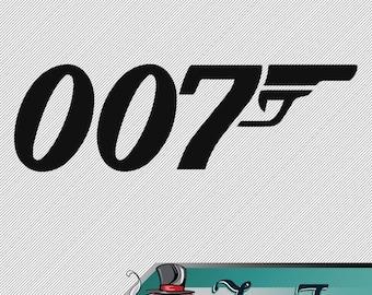 Vinyl Decal- James Bond 007 Logo