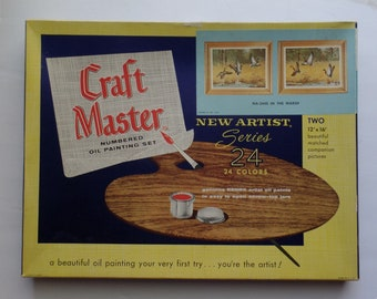 Vintage Paint By Number painting set by Craft Master In The Marsh ducks geese wildlife