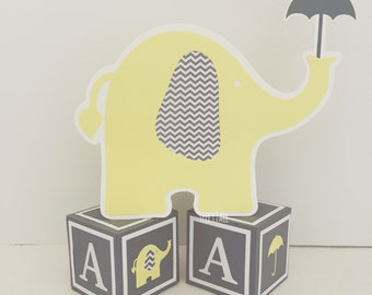 Elephant with Umbrella Baby Shower Centerpieces, Table Decorations