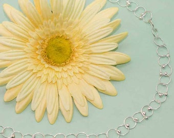 Sterling Silver Handmade Chain Short Necklace