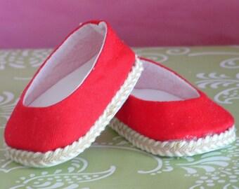 Red Duck Ballet Flats