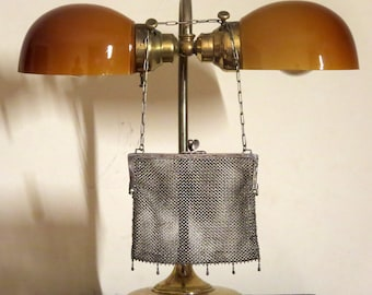 Dads Grads Sale H C & C  German Silver Mesh Kisslock Bag - Vgc
