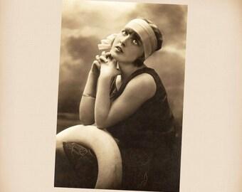 Art Deco Bathing Beauty New 4x6 Vintage Postcard Image Photo Print BB38