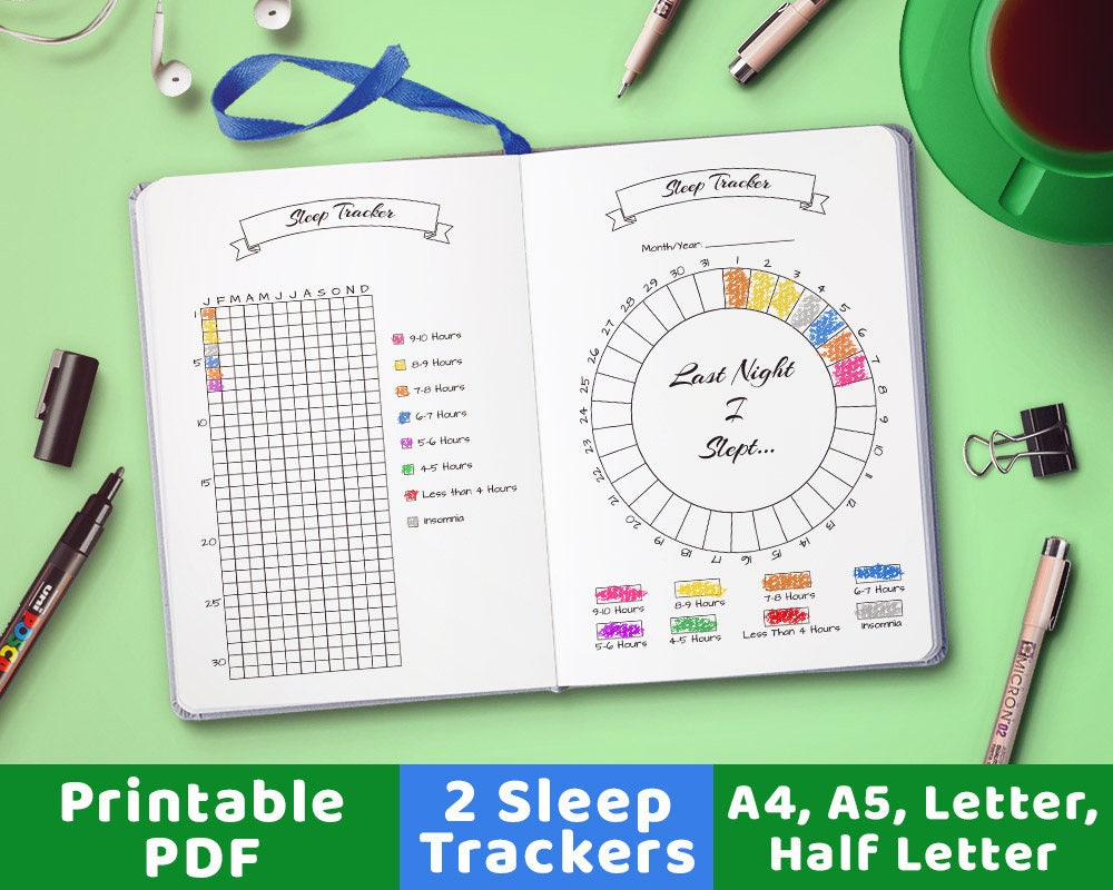 Bullet Journal Sleep Trackers Sleep Tracking Sleep Planner
