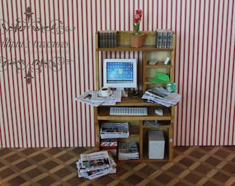Dollhouse miniature complete workstation OOAK