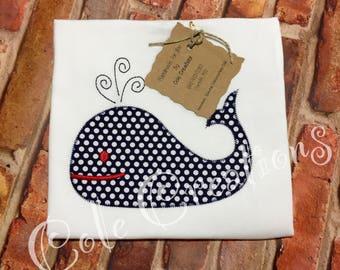 Boys whale shirt, whale applique shirt, swimming whale, orca applique, whale boys shirt, whale embroidery, girl whale shirt,