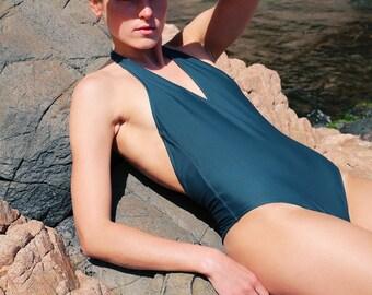 Forest Green Halter neck swimsuit