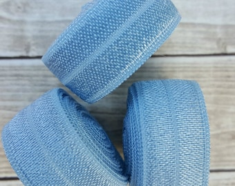 5/8 FRENCH BLUE Fold Over Elastic 5 or 10 YARDS