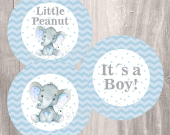 Blue Elephant Baby Shower Printable Centerpieces, Instant Download, Little  Peanut Blue And Gray Shower Centerpieces, Baby Shower Decoration