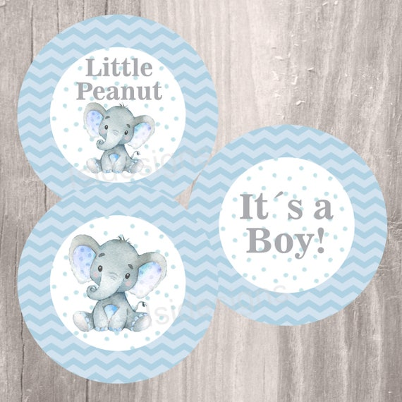 Divine image with free printable elephant baby shower