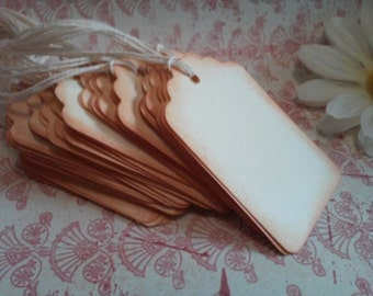Blank tags, Favor tags, Gift tags, Scrapbooking tags, Price tags, Hang tags, Set of 12