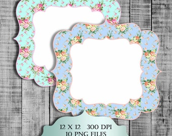 Shabby Chic Printable Labels Digital Clipart