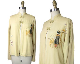1930s Japanese Export Jacket with Frog Closures