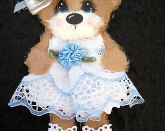 Flower Girl Mulberry Tear Bear 6 inches tall add2yourScrapbookingPages Marystearbears