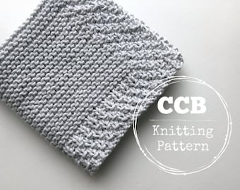 Washcloth / Dishcloth Knitting PATTERN - Courtyard
