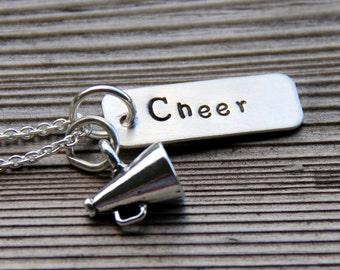 Cheer Necklace - Cheer Leader Necklace - Cheerleader - Gift For Coach - Gymnastics Necklace - Gymnastics - Gift For High School Cheerleader