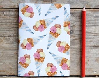 Happy Ice cream Unlined Notebook