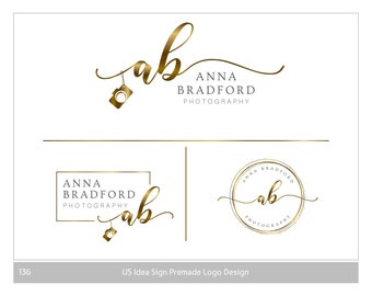 Camera Logo Design, Logo Photography, Gold logo Branding, Branding kit logo, camera watermark, logo with camera, Modern logo, branding logo