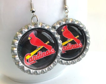 St Louis CARDINALS Baseball Handcrafted Earrings