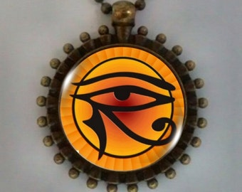 Egyptian Eye of Horus, Eye of Horus Pendant, Eye of Ra Pendant, Ancient Egyptian Eye  of Horus.