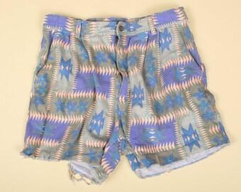 Bright Navajo high-rise cutoff shorts