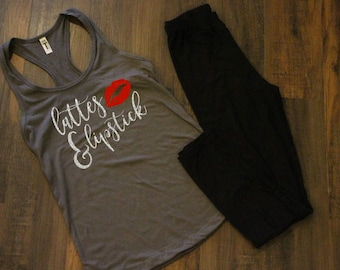 Lattes and Lipstick Tank Top