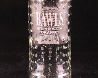 YAVA Glass - Recycled Bawls Guarana Orange Soda Bottle Glass