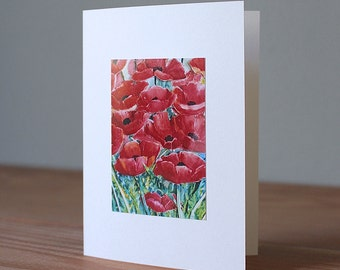 Handmade Poppies Photo Card