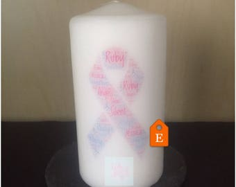 Angel baby memorial-wave of light candles-pregnancy loss awareness-personalized angel baby-baby loss candle-angelversary gift-baby loss