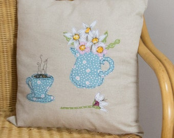 Time for a cuppa cushion