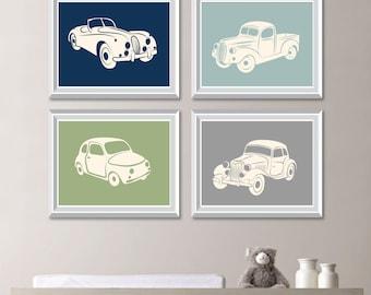 Boy Nursery Decor. Boy Nursery Art. Boy Bedroom Decor. Boy Bedroom Art. Car Nursery Decor. Retro Car Art. Transportation Wall Art (NS-781)
