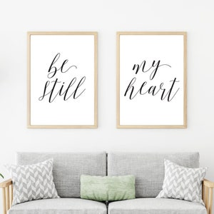 prints for office walls. Be Still My Heart Decor Wall Art, Bedroom Over The Bed, Home Prints For Office Walls N
