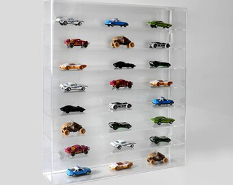 Model Car Wall Display Case   Toy Car Wall Mounted Shelving Display   Collectible Display Shelves   Premium Perspex Acrylic   Made in the UK