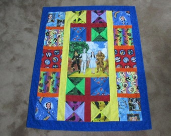 "Wizard of Oz Yellow Brick Road Quilt Blanket 38"" x 46"""