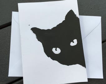 Midori Black Cat Cards