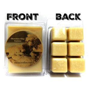 Chocolate Chip Cookies- 3.2oz pack of Soy Wax Tarts, Mels Melts, Soy wax scent cubes Perfect for all wax burners